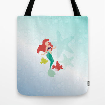 three friends.. ariel flounder sebastion Tote Bag by studiomarshallarts