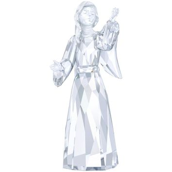 swarovski crystal christmas figurine angel celeste clear 52187 - Christmas Angel Figurines