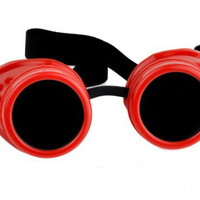 Plain Red Goggles DIY Cosplay Welder Glasses Mad Scientist