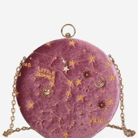Embroidery Star Round Shape Crossbody Bag