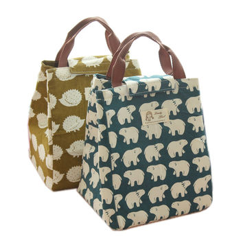 Cute Animal Printed Insulated Lunch Bento Bags (5 styles)