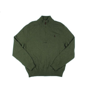 Polo Ralph Lauren Mens Heathered Long Sleeves Funnel-Neck Sweater
