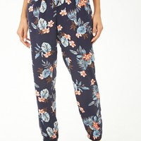 Tropical Floral Satin Pajama Bottoms