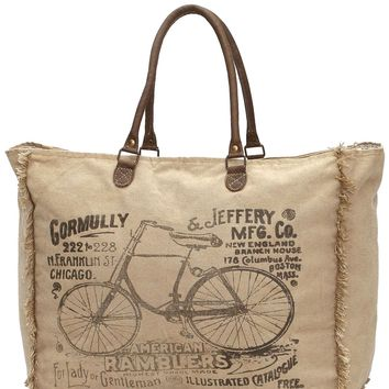 Myra Bag American Bicycle Large Up-cycled Canvas Weekender