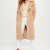 Missguided - Petite Camel Longline Duster Coat