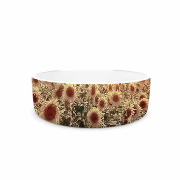 "Viviana Gonzalez ""Lone Tree & Sunflowers Field"" Sunny Nature Pet Bowl"