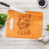 Farmhouse Gifts for her - Farm Sweet Farm Cutting Board - Farmhouse Decor