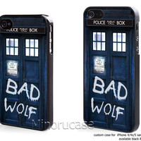 dr who bad wolf Custom case For iphone 4/4s,iphone 5,Samsung Galaxy S3,Samsung Galaxy S4 by minorucase on etsy