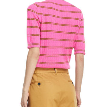 Marc Jacobs Striped Half-Sleeve Cashmere Sweater and Matching Items