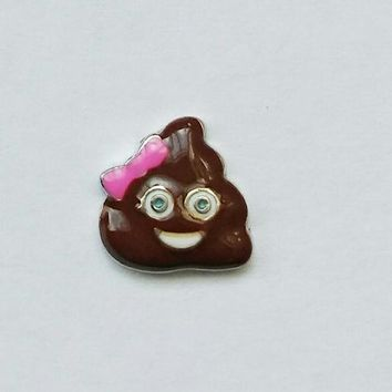 Poop Emoji Floating Charm