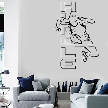 Vinyl Decal Wall Stickers Hurdle Hurdling Running Olympic Games  (z1675)