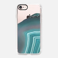 Teal Agate iPhone 7 Case by Lisa Argyropoulos | Casetify