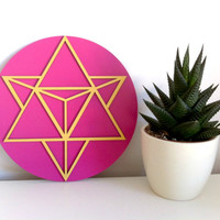 Merkaba Star Tetrahedron Wall Plaque