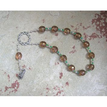 Euthenia Pocket Prayer Beads: Greek Goddess of Prosperity and Abundance