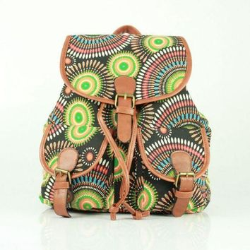 LMFON1O Day First Cute Ethnic Totem Large College Backpacks for School Bag Canvas Daypack Travel Bag