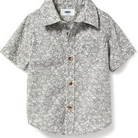 Floral Poplin Shirt for Baby