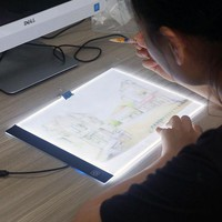 DCCKFS2 LED lighted Drawing Board Ultra A4 Drawing table Tablet light Pad Sketch Book Blank Canvas for Painting Acrylic Watercolor Paint
