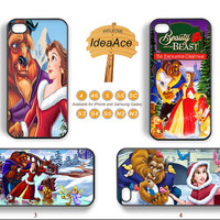 Beauty and the beast, iphone 5 case, Phone cases, iphone 4 case, iphone 5C case, Christmas, Note 2 case, Galaxy S4 case, Note 2 case--N0116