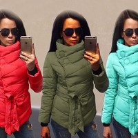 New Winter Women's Ladies Down Cotton Parka Short  Warm Hooded Coat Quilted Outfits Winter Clothes Tops Parkas Warm Clothing