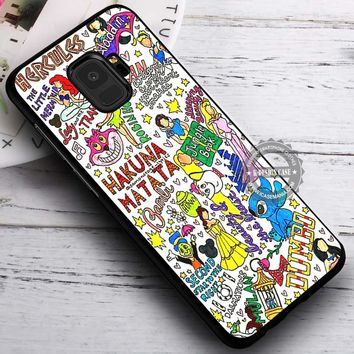 Collage Of All Sort Cartoon iPhone X 8 7 Plus 6s Cases Samsung Galaxy S9 S8 Plus S7 edge NOTE 8 Covers #SamsungS9 #iphoneX