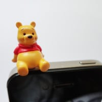 SALE 80-20%OFF: Super Cute Pooh Bear  - IPhone & earphone dust plug -  Cellphone Accessories