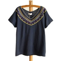 Bohemian Embroidery Batwing T-shirt
