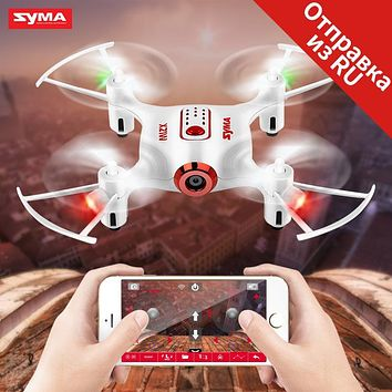SYMA X21W RC Drone Wi-fi Camera 720P FPV Mini Dron Quadcopter 2.4GHz 4CH RC Helicopter Pocket Drones For Children Gift Toy