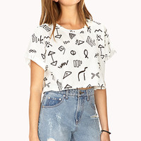 World Traveler Boxy Crop Top