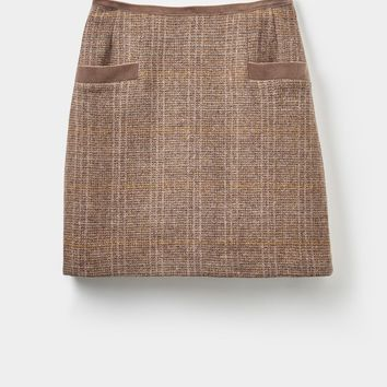Carole Mr Toad Brown Tweed Mini Skirt | Joules US