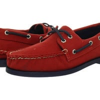 Sperry Top-Sider A/O 2-Eye Canvas Pop Red/Navy - Zappos.com Free Shipping BOTH Ways