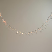 Silver Bead LED Garland Lights - World Market