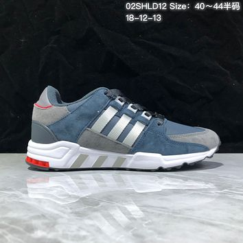KUYOU A366 Adidas EQT RF Support 93 Suede Retro Running Shoes Blue Sliver Red