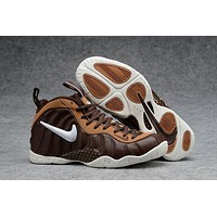 Air Foamposite Pro Bronze/White Basketball Shoe Size 40--47