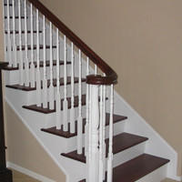 Wooden staircase with attractive colors - Home Best