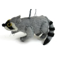Felt Raccoon Ornament