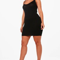 Plus Faith Strappy Basic Bodycon Dress | Boohoo