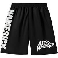 A Day To Remember Men's  Homesick Gym Shorts Black Rockabilia