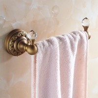 High-end Retro Style Wall Mount Towel Ring Antique Brass Towel Bar Towel Rack