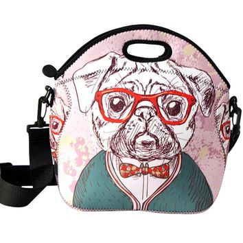 Fashion Cartoon Multifunctional Lunch Tote Bag Waterproof Insulated Lunch Bag