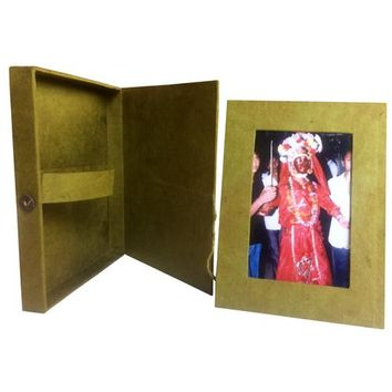 "4"" x 6"" Lokta Paper Picture Frame with Box handmade in Kathmandu"