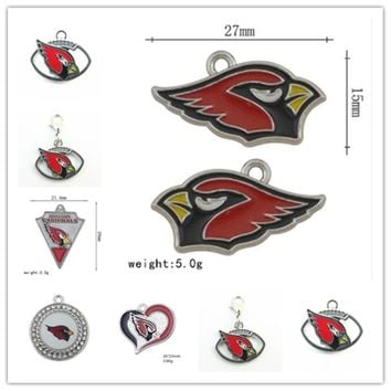 Mixed 6 Style Enamel Arizona Cardinals Team Pendant Dangle Charms For DIY  Bracelet&Necklace Jewelry 20pcs/lot