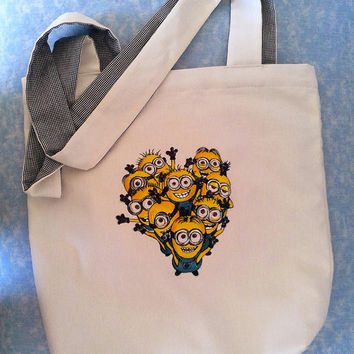 Minions Tote Bag 'Handpainted' Despicable Me Tote Bag