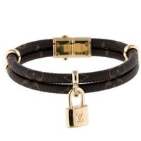 Auth Louis Vuitton Bracelet Keep It Twice Monogram Bracelet Bangle 10106904