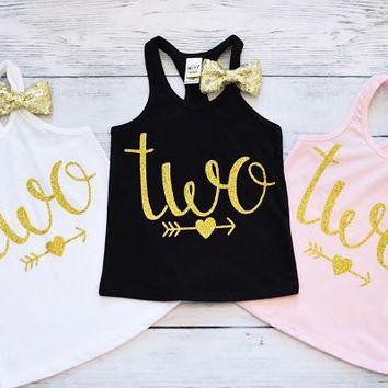 Two Sparkle Tank Top, Second Birthday Shirts