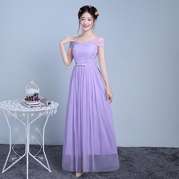 ZX-F3ZS#True photos the new spring and summer 2016 regiment dress fashion cheap bridesmaid dresses sisters gray and violet