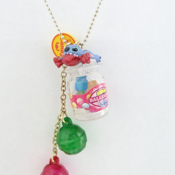 Stitch Disney Candy Land Necklace great for your theme by shimrita