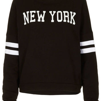 Tall New York Motif Sweat - New In This Week - New In - Topshop USA