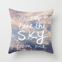 Sky x Firefly Throw Pillow by Leah Flores | Society6