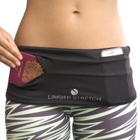 Limber Stretch Hip Hug Spandex Lycra Waist Pack for Traveling, Running, Walking, Cycling, Sports, Hiking, Yoga & More! Keep your iPhone 6 plus secure & by your side!