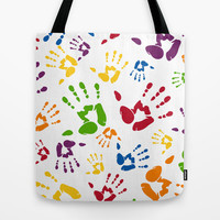 Hand Print Tote Bag by markmurphycreative